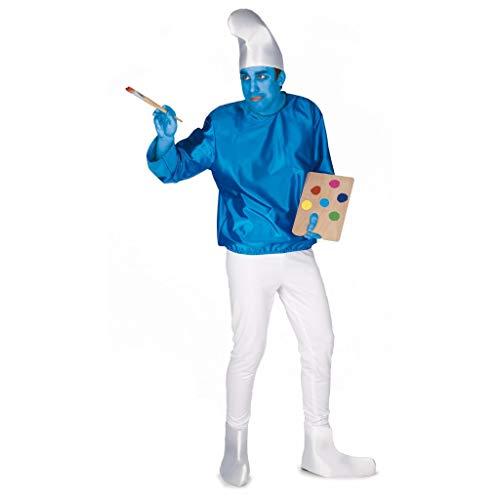 El Rey del Carnaval - Disfraz pitufo talla única: Amazon.es: Ropa ...
