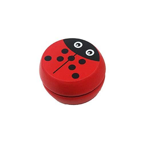 Matthis Yoyo Toys, Wooden Toys Ladybug Prints Classic Yo-Yo Creative Yo Yo Ball for Kids Children Gift