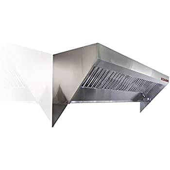 Food Truck, Concession Trailer Mobile Kitchen Low Profile Exhaust Hood. on