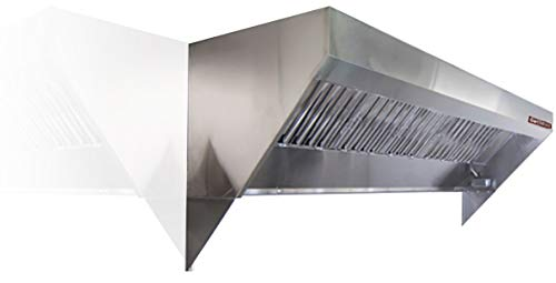 Food Truck, Concession Trailer Mobile Kitchen Low Profile Exhaust Hood. Includes stainless steel hood filters, grease cup, installation hardware, and a factory installed exhaust riser. (6' Long Hood) ()