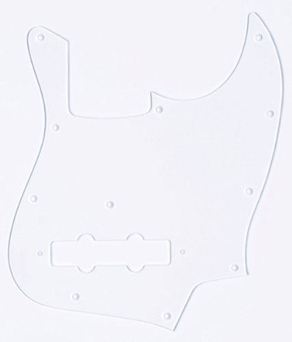 - MIJ Pickguard for Jazz Bass Aclyric Clear fa-pg-jb-ac