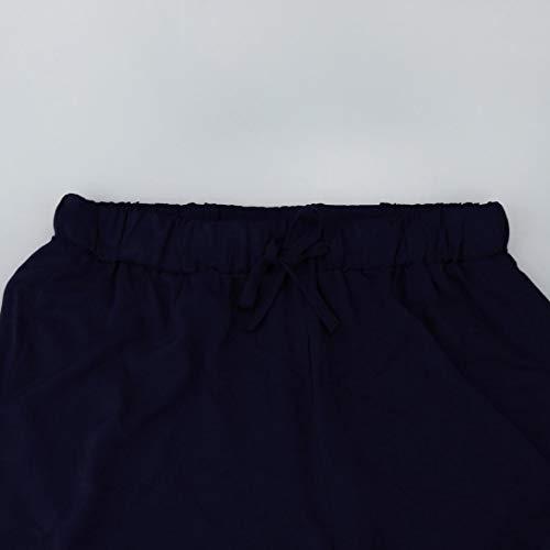 Pantacourt Femmes Occasionnel Jupe Pantalons Haute Pantalon Plaid Skinny Mode Piss Bleu Court Taille Imprim Gym Casual Lastique BeautyTop Dentelle Stripe Longueur Pantalon Femme D'T Sport dIqRx5I0