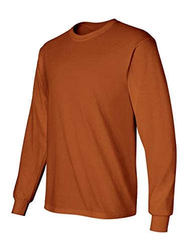 Gildan 2400 - Classic Fit Adult Long Sleeve T-shirt Ultra Cotton - First Quality - Texas Orange - Small