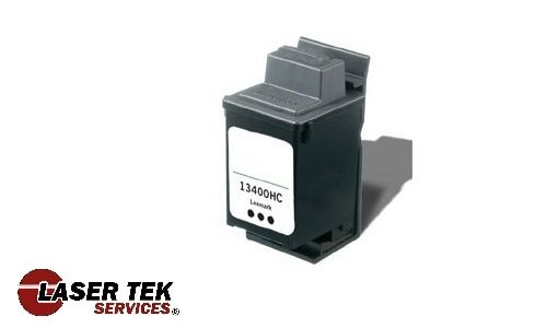 13400hc Inkjet Cartridge (Laser Tek Services® Black Remanufactured Replacement Ink Cartridge for the Lexmark 13400HC)