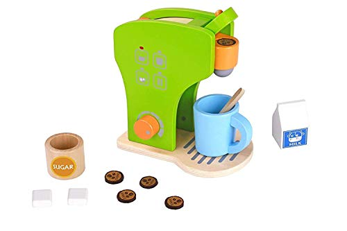 (Pidoko Kids Toy Kitchen Accessories - Pretend Play Appliances - Coffee Set (12 Pieces))