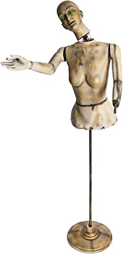 [Morbid Enterprises Animated Mannequin, Cream/Black/Breen/Yellow, One Size] (Halloween Animatronics)