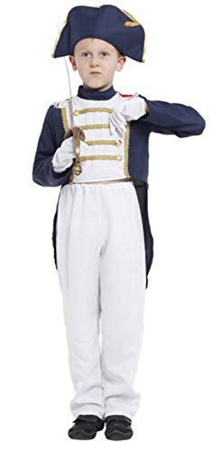 Brcus Boys Kids Colonial General Halloween Cosplay Costume Uniform Role Play Dress up X-Large