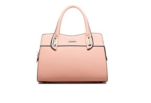 New Winter QCKJ-Lorenz-Borsa a tracolla da donna in massello, colore: rosa