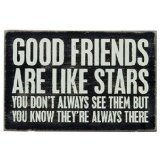 1 X Good Friends Are Like Stars - Mailable Wooden Greeting Card for Birthdays, Anniversaries, Weddings, and Special Occasions (Birthday Star Card)