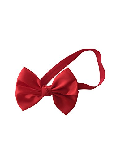 May & Co Princess Satin Ribbon Bow Hair Headbands for Baby Girls (Red) ()