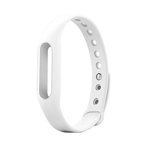 Cute Rubber Replacement Accessory Band for Xiaomi Miband Wristband, One Size (White)