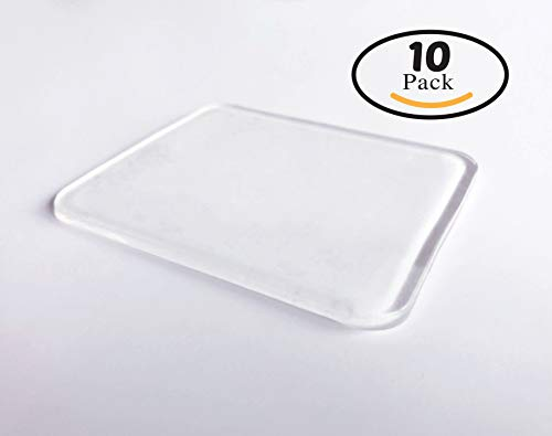 10 Super Sticky Silicone Gel Pads Clear, Anti-Slip Gel Pads Auto Gel Holders, Durable Washable Cell pad ()