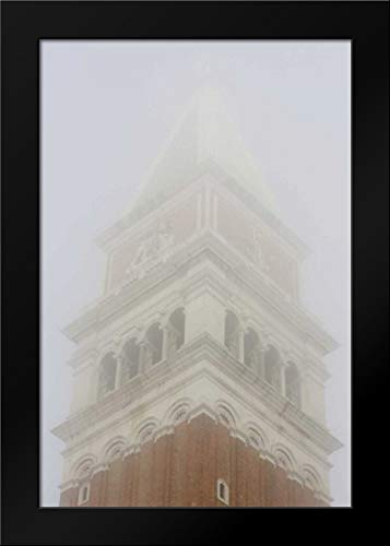 Italy, Venice Campanile in Early Morning Fog Framed Art Print by Kaveney, Wendy