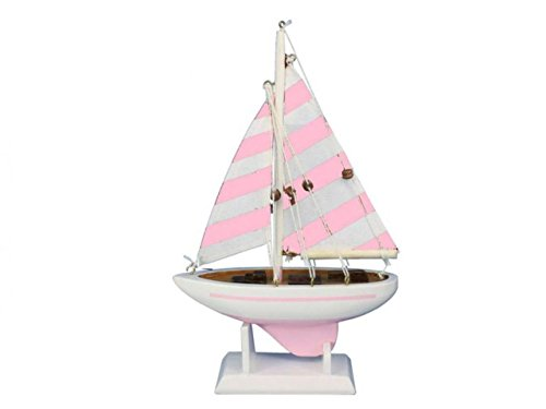 Hampton Nautical Sailboat9-115 Wooden Pretty in Pink Sailboat9-115 Sailboat 9