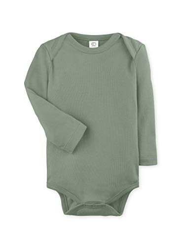 - Colored Organics Unisex Baby Organic Cotton Bodysuit - Long Sleeve Infant Onesie - Thyme Green - 3-6M