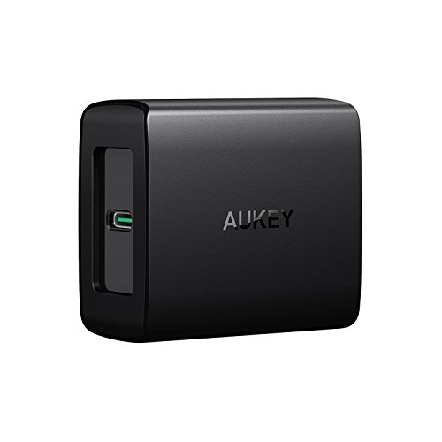 AUKEY USB-C Charger with Power Delivery 3.0 USB Wall Charger for MacBook / Pro, Nintendo Switch, iPhone X /8 /Plus, Samsung Note8, Pixel /XL and More
