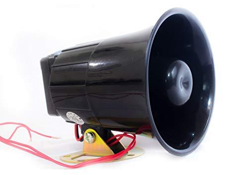 Quick Sense (Qs-H1) Plastic 220v -118 DB Hooter Security Alarm for Securities, Loud Sound -300-400 m | Black, 94 x 88 x…