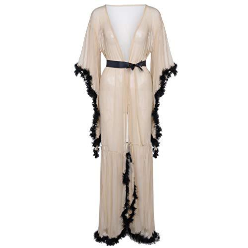 no Robe Babydoll Lingerie Mesh Nightgown (White) ()