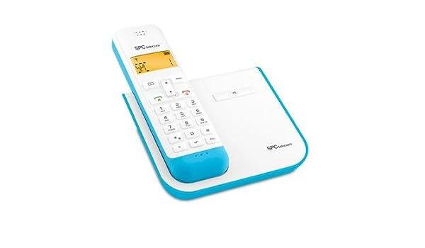 SPC 7232A - Teléfono (DECT, Azul, Color blanco, Tone/Pulse, Digital, DEU, DUT, ENG, ESP, ENG, ITA, POR): Amazon.es: Electrónica