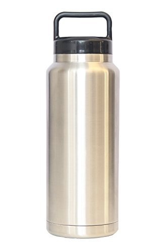 Eskimo Cooler Bottle - 36 Ounces - 18/8 Stainless Steel Double Walled - Vacuum Insulated Tumbler - Spill Free & Sweat Resistant