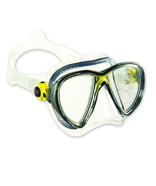 Cressi Sub Goggles - Cressi Sub Big Eyes Evolution 2 Lens Scuba Diving Silione Mask, Red with Black Silicone