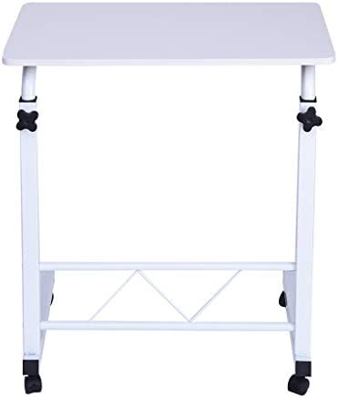 US Fast Shippment Shmei Multifunctional Home Computer Desk Bedside Table,Home Office Chair Can Be Lifted and Lowered Mobile Computer Desk Bedside Table White