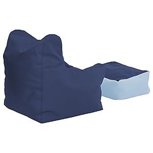 ECR4Kids Bean Bag Chair and Ottoman Set