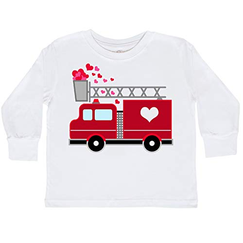 Valentines Shirts For Toddlers (inktastic - Valentine's Day Red Toddler Long Sleeve T-Shirt 3T White)