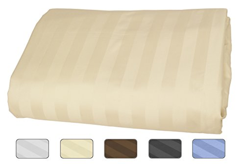 American Pillowcase - California King Fitted Sheet Only - 100% Egyptian Cotton, 540 Thread Count With Wrinkle Guard (Color: Ivory)