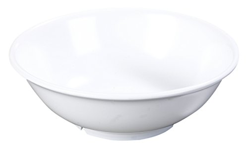 Carlisle 4373802 Melamine Footed Serving Bowl, 36 oz, White