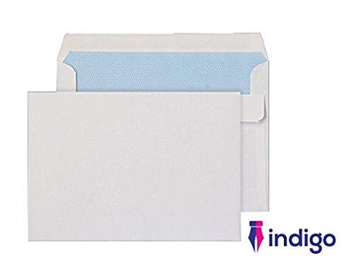 Indigo C6 114 x 162 mm White Self Seal Envelopes Pack of 50 Indigo®