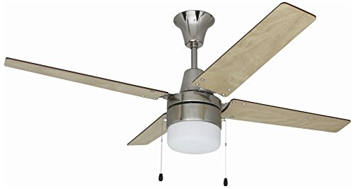Ellington Glass Ceiling Fan (Ellington UBW48BC4C1 Wakefield Ceiling Fan with Ash/Wenge Blades and Frosted Glass, 48