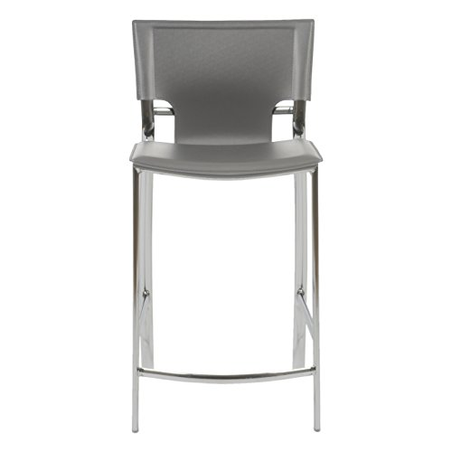 (Euro Style 17213GRY Vinnie-C Counter Stool, Set of 2)