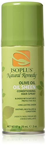 - Isoplus Natural Remedy Olive Oil Sheen Spray, Trial Size, 2 Ounce