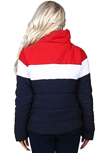 S Ladies Red Red Coat Quilted Islander Long Sleeve Contrast Navy Xl M L Womens Colour Zipper Jacket Fashions navy wOq5qTtF
