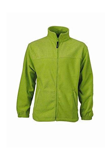 Lime green Sportiva Uomo Giacca Full In Fleece Pesante zip x40dd8qHB