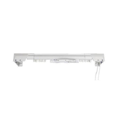 Rod Desyne White Traverse Heavy Duty Single Curtain Rod and