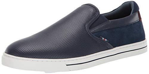 (Ted Baker Men's Wlador Sneaker, Dark Blue Leather, 8.5 Medium US)