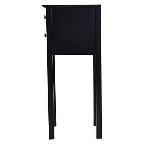 30'' Black Accent Nightstand Side End Table w/ 2Drawer with Ebook by AyaMastro (Image #4)