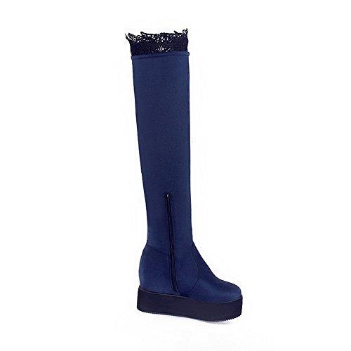 1TO9 Mns01791, Sandales Compensées femme Bleu