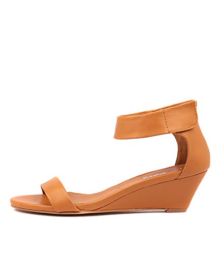 I LOVE BILLY Miesha Womens Shoes Medium Heels Summer Wedges Tan Smooth
