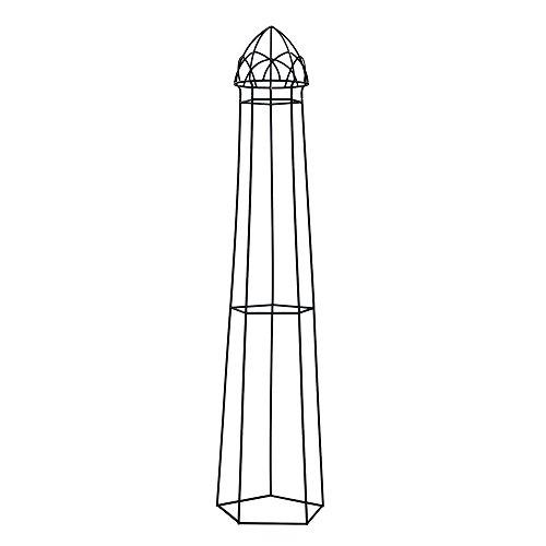 "Achla Designs PYL-12 Cornette IV Garden Pylon Climbing Plants Support, Wrought Iron, 18 diam. x 82.5H"", Graphite"