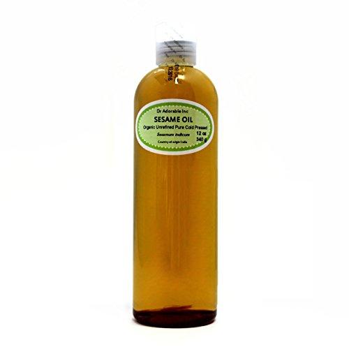 Sesame OIL Unrefined Cold Pressed Organic 12 Oz