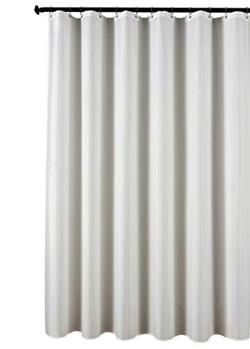 (Biscaynebay Fabric Shower Curtain Liner, Waterproof Water Resistant Bathroom Curtain Liner, 72X72, White)