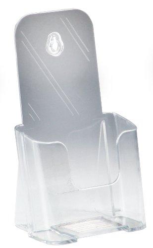 Displays2go Flyer Holders, Clear Molded Plastic Brochure Racks - Set of 60 (LDTK40) - Molded Holder
