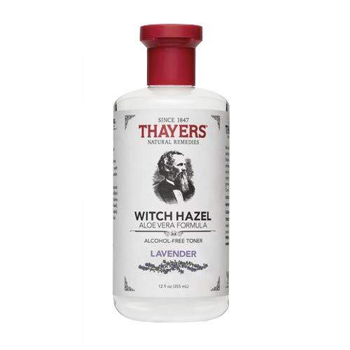 Witch Hazel with Organic Aloe Vera Formula Toner, Lavender 12 oz (Pack of 2) ()