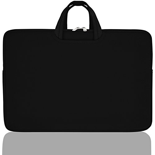 17 Laptop Sleeve Bag Water-Proof, Drop-Proof Case, with Collapsible Carrying Handles for Laptops, Computers, and Macbooks - Ultra Slim Cover with Storage Pockets.