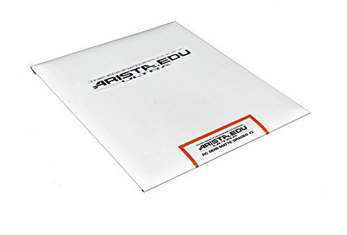 Arista EDU Ultra RC Black & White Photographic Paper, Semi-Matte #2, 8x10, 25 - Arista Film Color