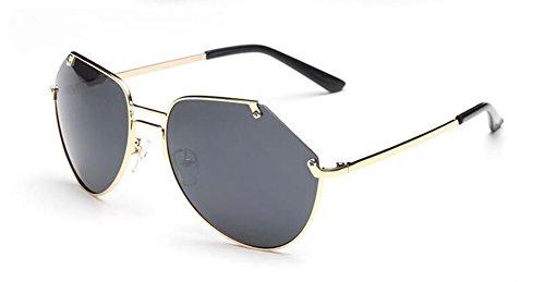 inspirées A polarisées style métallique Grise lunettes retro soleil Feuille Lennon en rond de du vintage cercle HnqwxUtxZ