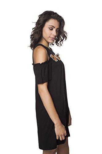 Negro Mujer Casual Vestido Para Mamatayoe Luna xCwqYHxA